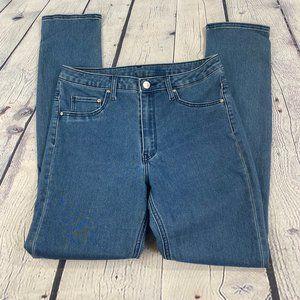 H&M Blue Skinny  Stretch High Waist Women's Jeans